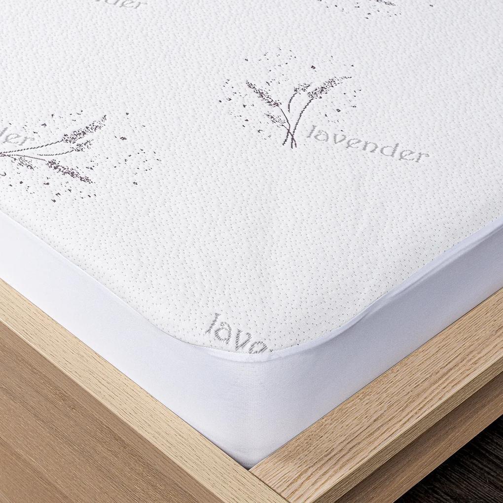 Protecție saltea 4Home Lavender cu bordură, 160 x 200 cm + 30 cm, 160 x 200 cm