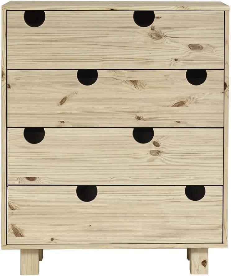Comodă cu patru sertare Karup Design House Natural