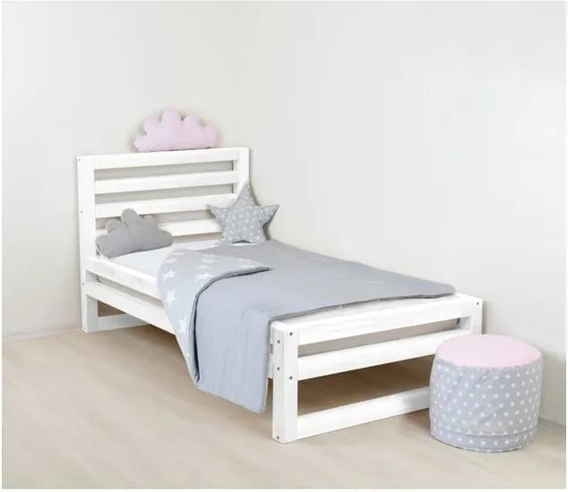 Pat din lemn pentru copii Benlemi DeLuxe, 180 x 80 cm, alb