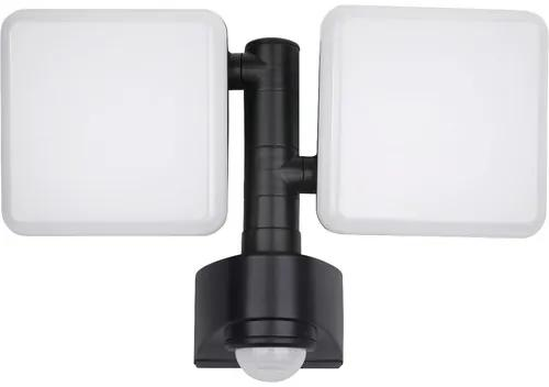 Aplica cu LED integrat Lucca 2x10W 1800 lumeni, senzor de miscare, pentru exterior IP54
