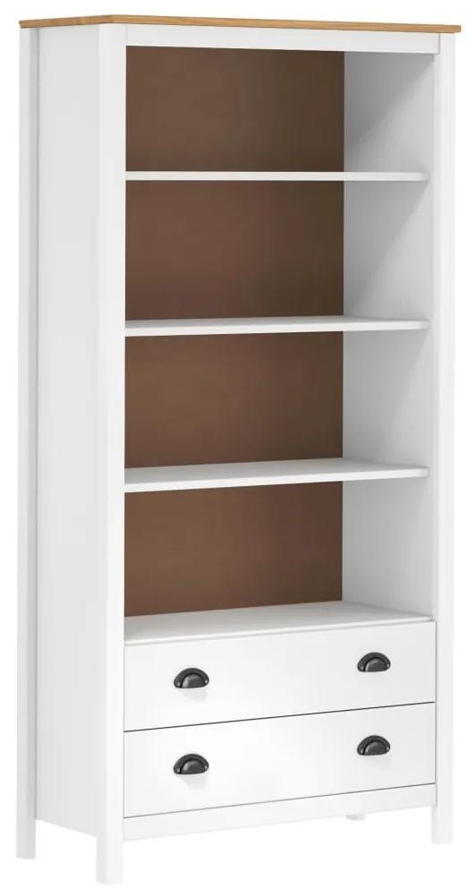 289010 vidaXL Bibliotecă Hill Range, alb, 85x37x170,5 cm, lemn masiv de pin
