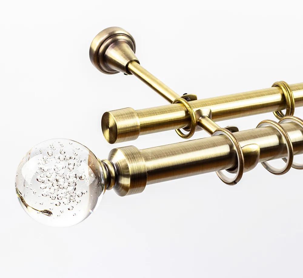 Galerie dubla Cristal Monaco 25/19, auriu antic - 180 cm