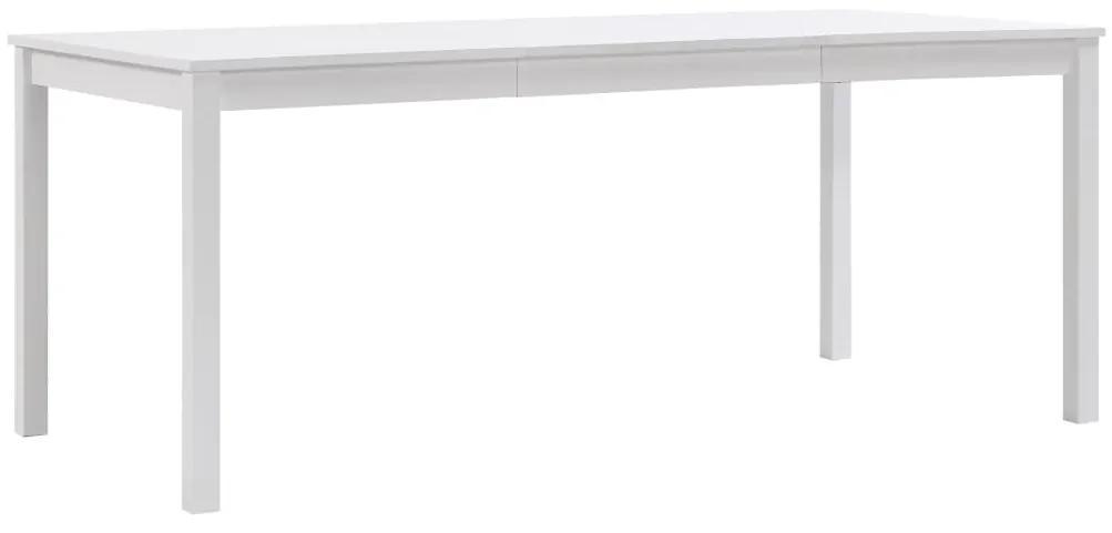 283405 vidaXL Masă de bucătărie, alb, 180 x 90 x 73 cm, lemn de pin