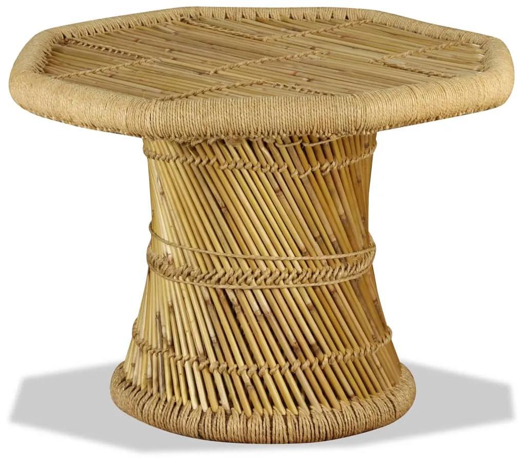 244219 vidaXL Măsuță de cafea Bambus Octogonal 60x60x45 cm