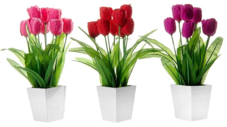 Set 3 flori artificiale în ghiveci Unimasa Tulip