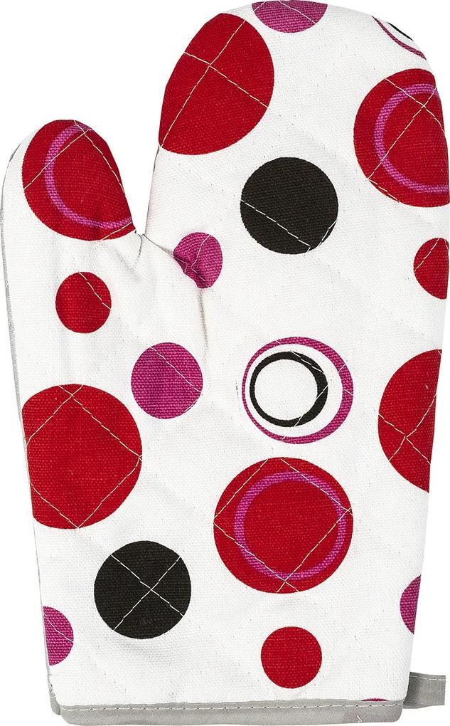 Mănușă bucătărie Bulină roșie, 28 x 18 cm