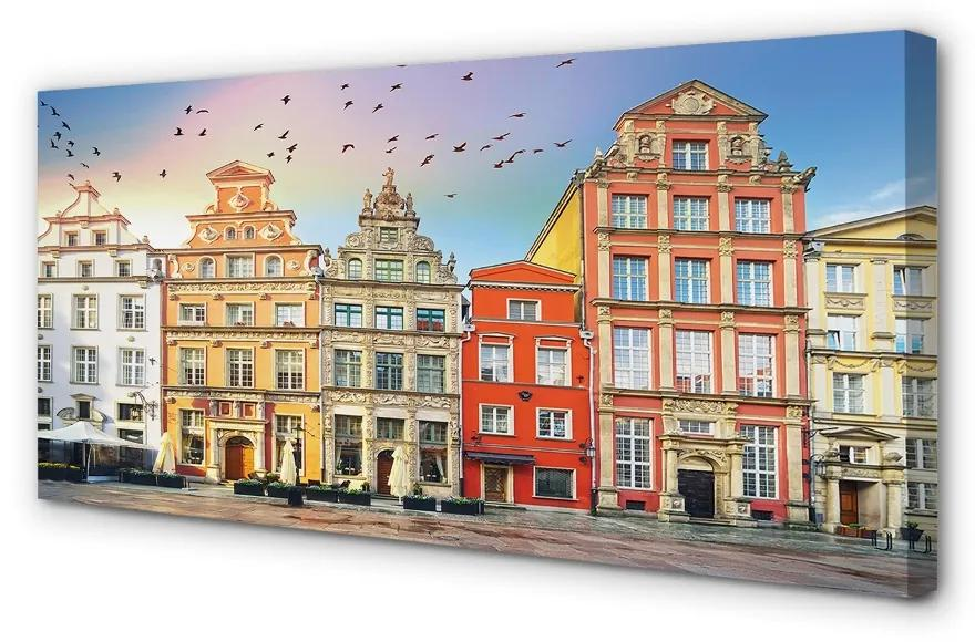 Tablouri canvas Tablouri canvas Gdańsk clădiri vechi oraș