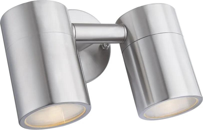 Globo 3207-2L Aplice pentru iluminat exterior STYLE oțel inoxidabil 2 x GU10 max. 5w 210lm 3000K IP44 A+