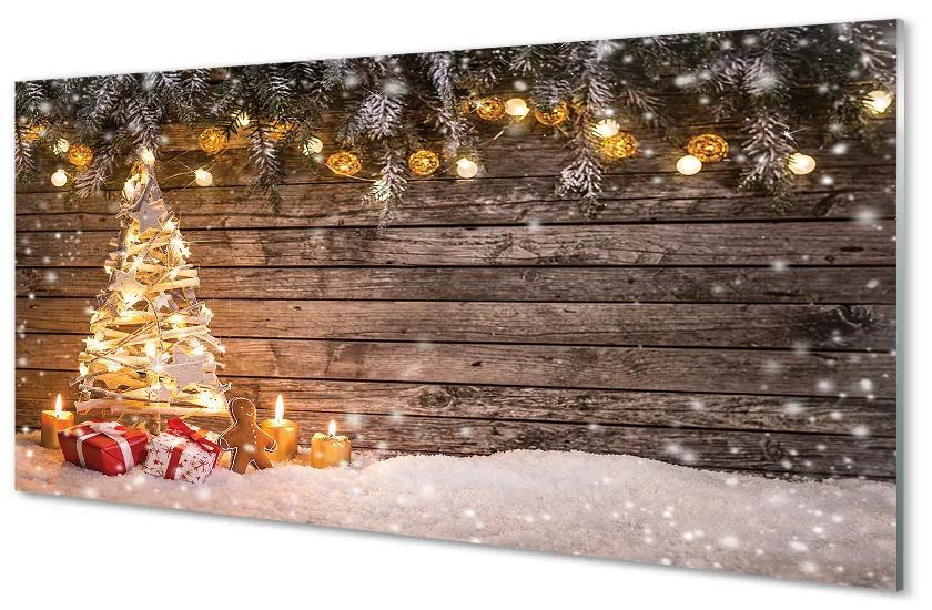 Tablouri acrilice Tablouri acrilice Crăciun decorare copac zăpadă
