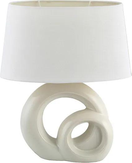 Rábalux 4518 Veioze, Lampi de masă Tory alb ceramică E27 1X MAX 60W IP20