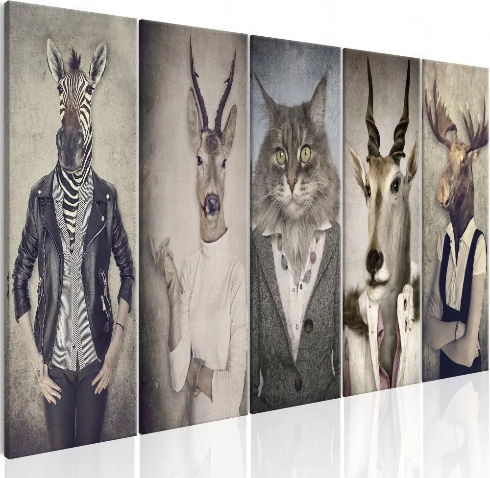 Tablou pe pânză - Animal Masks I 200x80 cm