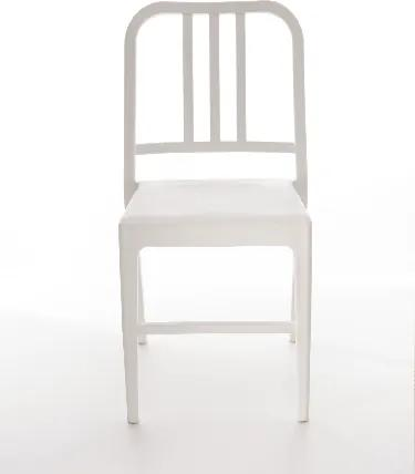 Scaun din plastic Luca White, l50xA44xH80 cm