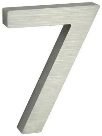 Număr aluminiu de casă, suprafață șlefuită 3D