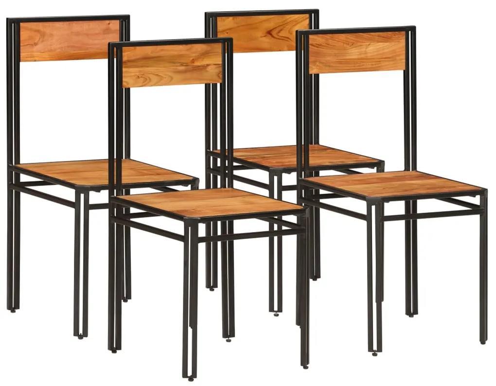 275845 vidaXL Scaune de bucătărie 4 buc. lemn masiv acacia, finisaj sheesham
