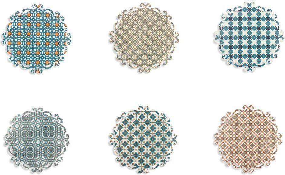 Set 6 suporturi colorate pentru farfurii Villa d'Este Lisboa, rotund