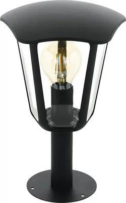 Stalp pitic Monreale E27 max. 1x60W, 33,5 cm, pentru exterior IP44, negru