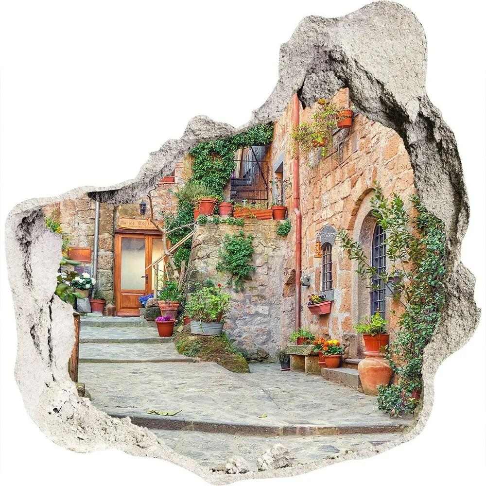 Fototapet 3D gaură în perete Străzile italiene