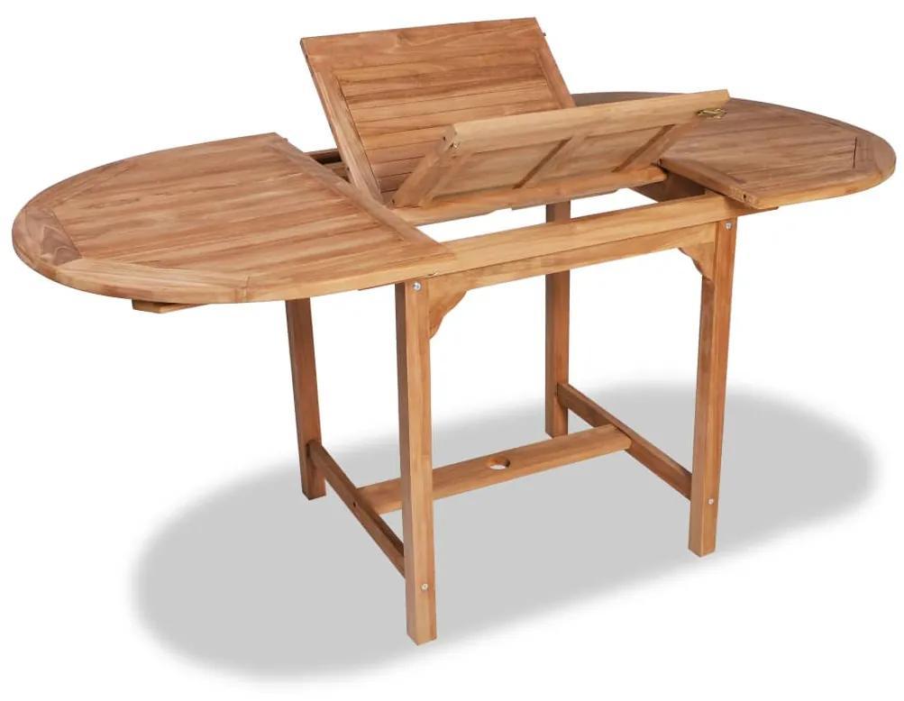 44684 vidaXL Masă de grădină extensibilă (110-160)x80x75cm lemn masiv de tec