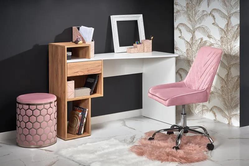 Masa de birou Conti alb – H127 cm