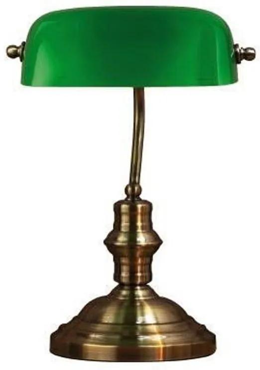 Veioză Markslöjd Bankers, înălțime 42 cm, verde - arămiu