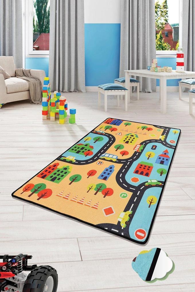 Covor pentru copii Road Multicolor - 100 x 160 cm