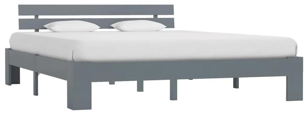 283171 vidaXL Cadru de pat, gri, 180 x 200 cm, lemn masiv de pin