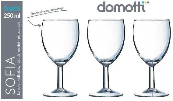 Set 6 pahare vin 250ml Sofia