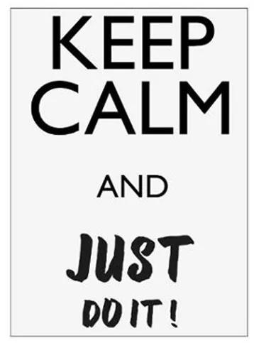 Tablou sticker Keep Calm, 30x40 cm