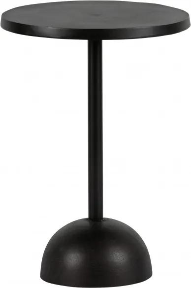 Masuta de cafea rotunda din aluminiu Tack 57x40x40 cm neagra