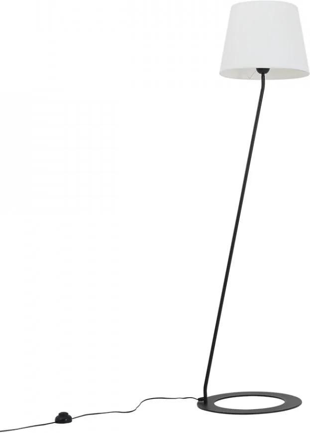 Lampadar alb/negru din poliester si otel 150 cm Stand