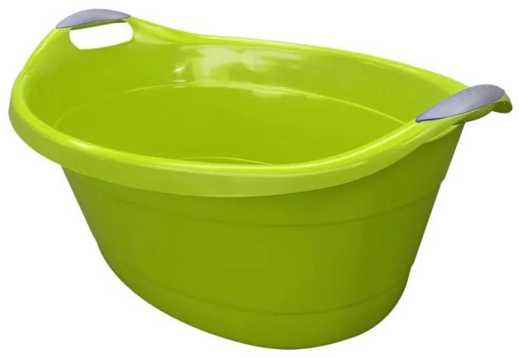 Bol oval cu maner 25L verde