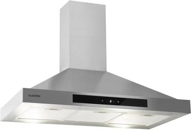 Klarstein Zelda 90, hotă, 210 W, 3 nivele, 650 m³/h, LED, clasă de energie B, oțel