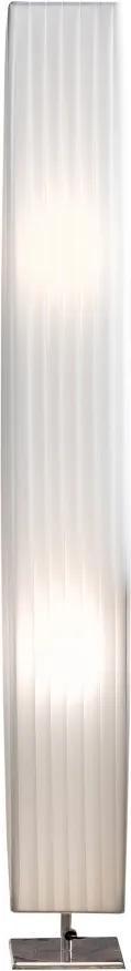 Lampadar patrat din latex/metal cromat THIS & THAT 120 cm alb, 2 becuri