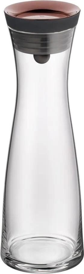 Carafă din sticlă pentru apă cu capac de culoare aurie WMF Basic, 1 l