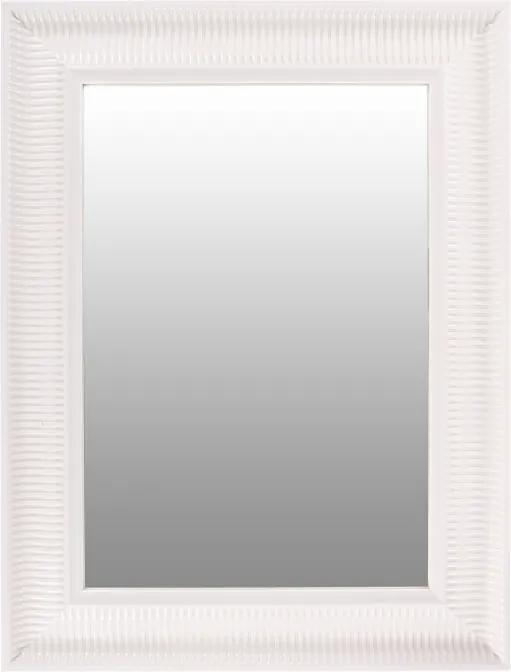 Oglinda dreptunghiulara cu rama din polistiren alba Howard, 83cm (L) x 63cm (L) x 3cm (H)