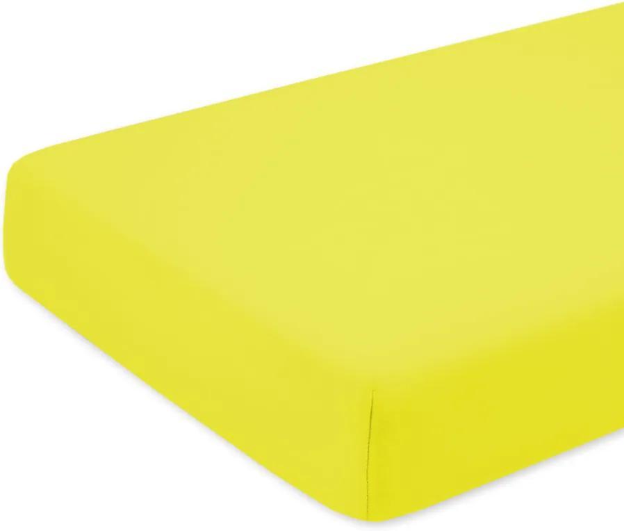 Cearceaf cu elastic pentru saltea 120x200 cm galben