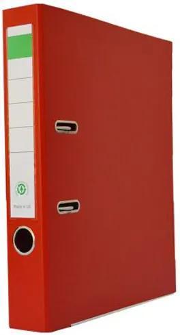 Biblioraft plastifiat PP/H 5 cm rosu