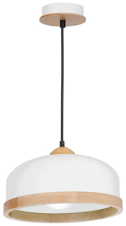 Pendul Studio White Milagro Modern, E27, Alb/Natural, MLP8848, Polonia