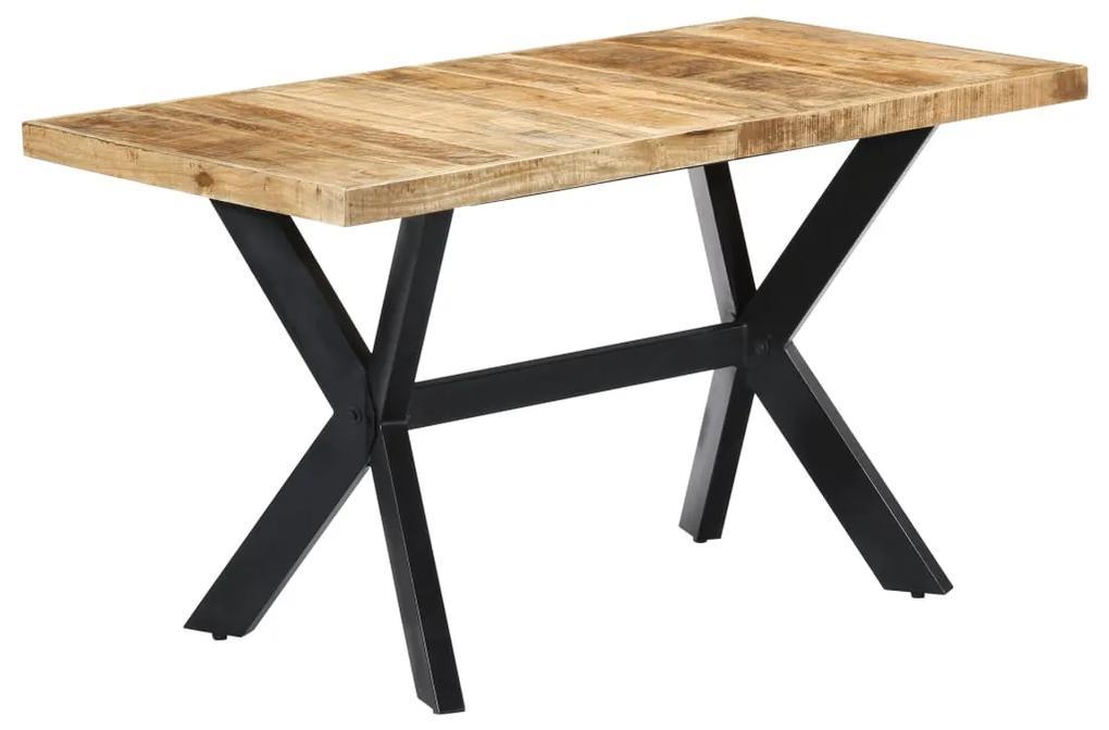 247437 vidaXL Masă de bucătărie, 140x70x75 cm, lemn masiv de mango brut