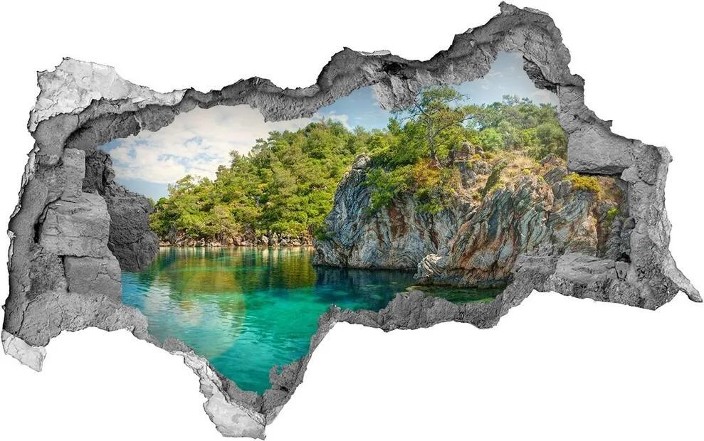Autocolant un zid spart cu priveliște Lagună albastră