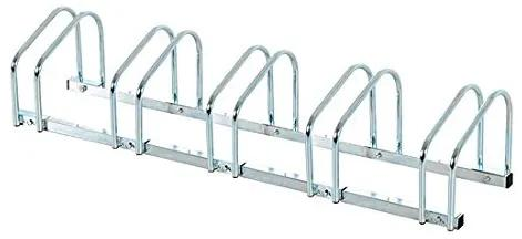 HOMCOM Suport pentru Biciclete pentru 5 Biciclete Tuburi din Otel Argintiu