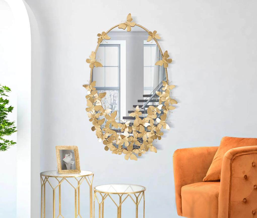 Oglinda OVAL BUTTERFLY CM 59X3X89,5 (oglinda CM 46X78), Mauro Ferretti