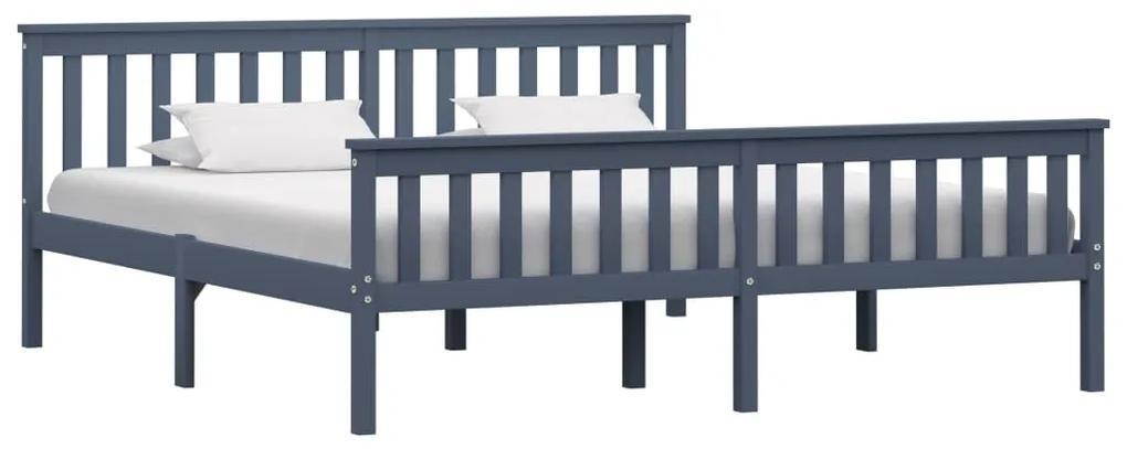 283231 vidaXL Cadru de pat, gri, 180 x 200 cm, lemn masiv de pin