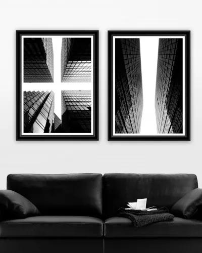 Tablou 2 piese Framed Art Glass Giants I&II