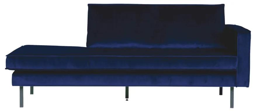 Sofa sezlong/Daybed din catifea Rodeo Right Velvet Dark Blue Nightshade