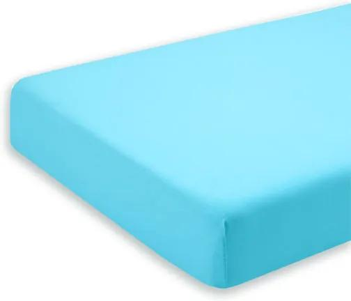 Cearceaf turcoaz cu elastic pentru saltea 95 x 52 cm
