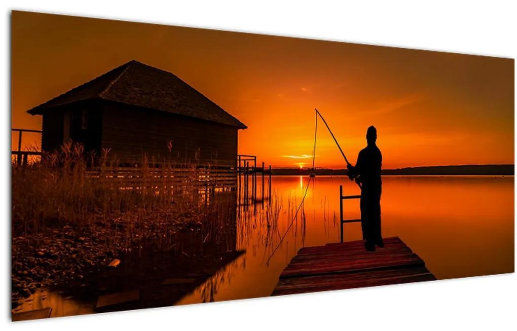 Tablou cu pescar (120x50 cm), în 40 de alte dimensiuni noi