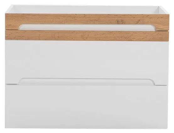 Masca pentru Lavoar Galatea White 80 cm Alb, stejar gold craft, 46 cm, 80 cm, 57 cm
