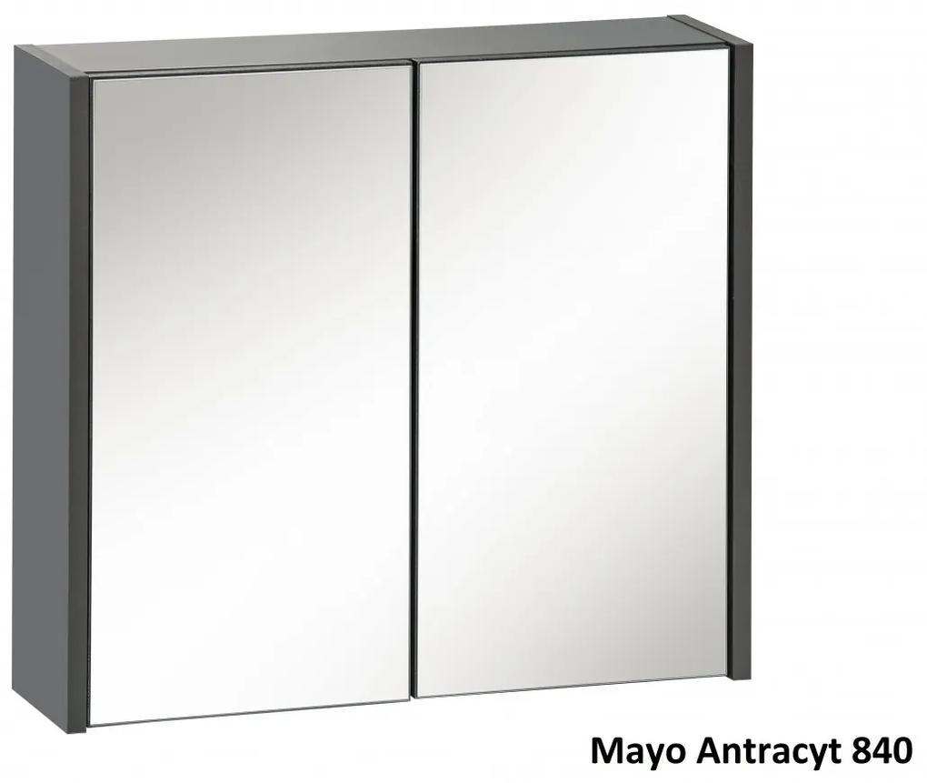 Corp suspendat cu oglinda Mayo Antracit Stejar votans, antracit, 16 cm, 60 cm, 55 cm, Corp suspendat cu oglinda