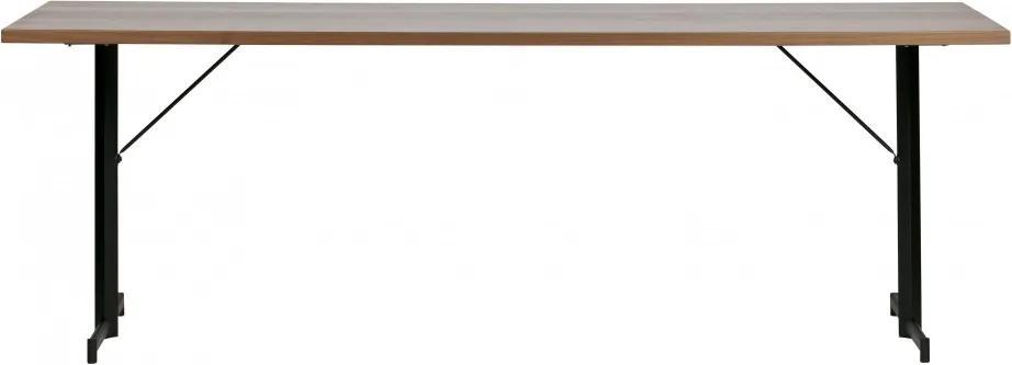 Blat de masa dreptunghiular din lemn Panel maro inchis 76x220x80 cm